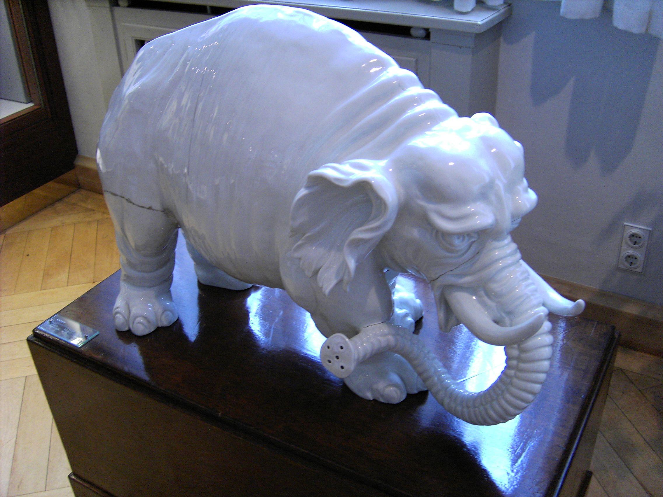 Мeissen, фарфоровый слон