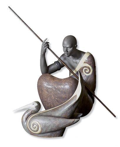 """Скульптуры африканского воина и птицы марабу из коллекции """"Африканские ритмы"""" (The Pulse of Africа)"""