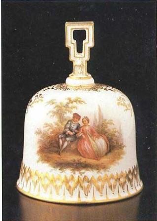 фарфоровый колокольчик, Meissen, XVIIIв