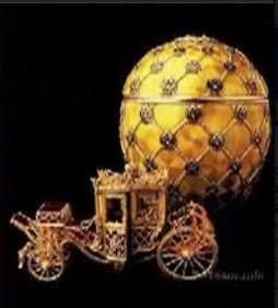 Яйцо изготовлено в ювелирной мастерской Карла Фаберже