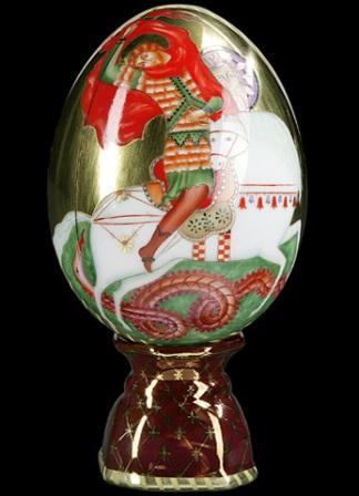 фарфоровое пасхальное яйцо, Императорский Фарфоровый завод