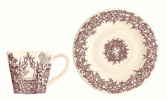французский фарфор, столовый фарфор Hermes, сервиз Зачарованные домики