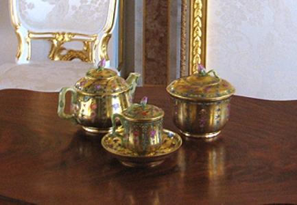 чайный фарфоровый сервиз ИФЗ