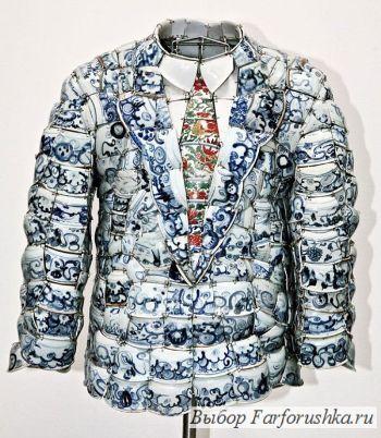 "одежда из фарфора от LACOSTE, новая коллекция ""от кутюр"""