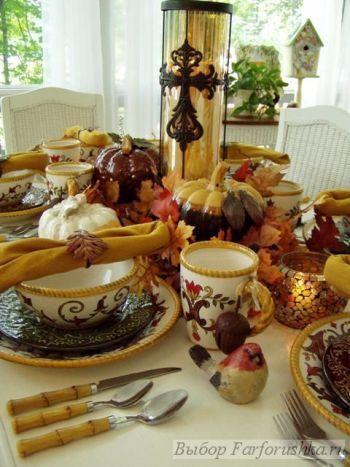 сервировка стола, праздничная сервировка
