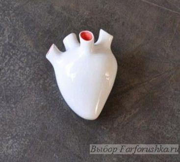 дизайнерский фарфор, копилка в виде сердца