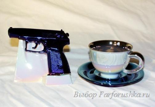 Rudolf Kampf, чешский фарфор, фарфоровый пистолет
