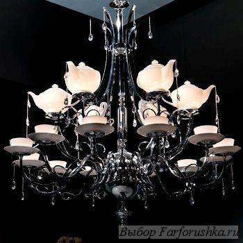 итальянский фарфор, фарфоровые плафоны, люстра Visionnaire Claudio, Ipe Cavalli