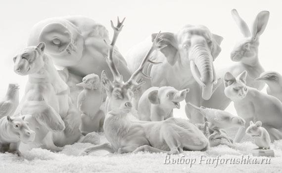 фарфоровые скульптуры животных, немецкий фарфор. мануфактура Nymphenburg (Нимфенбург)