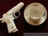 фарфоровый пистолет, немецкий фарфор, авторский фарфор