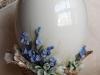 Яйцо-подсвечник Незабудки Статуэтка, русский столовый фарфор. авторская мастерская