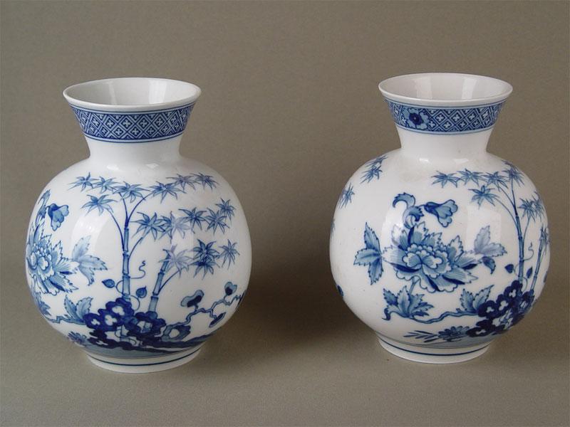 пара фарфоровых ваз, сер.20 века, Meissen