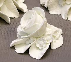 фарфоровая розочка белая, ИФЗ