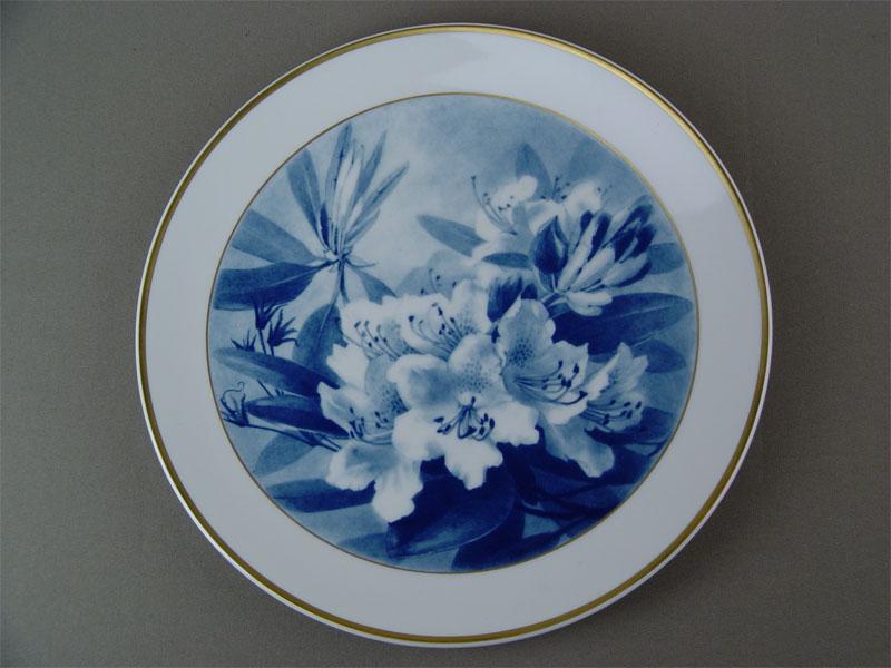 """фарфоровая настенная тарелка, марка """"Голубые мечи"""", Meissen"""
