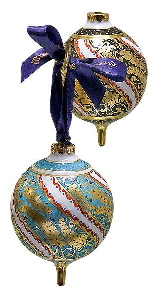фарфоровые елочные шары Royl  Crown Derby