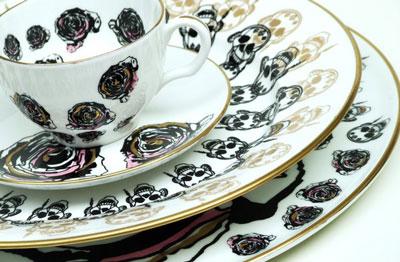 расписанные фарфоровые тарелки