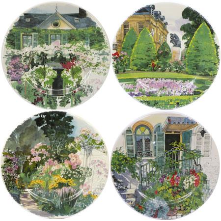 фарфоровые тарелки из коллекции De Paris a Giverny, Gien