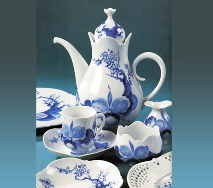 "фарфоровый сервиз ""Blue Orchide"", Meissen"