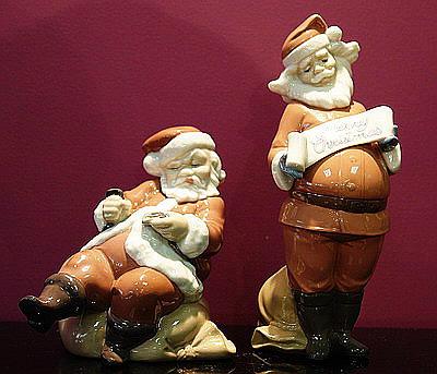 фарфоровые статуэтки Санта-Клаусов, NAO