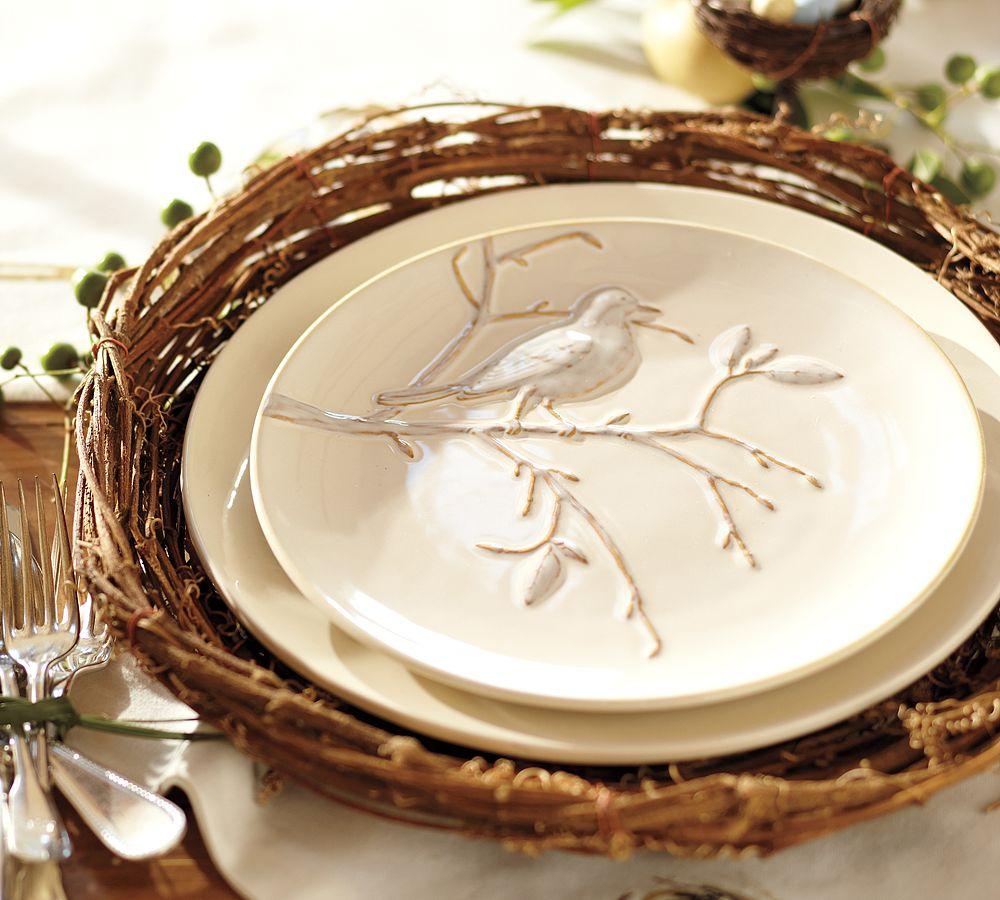фарфоровые тарелки в стиле кантри