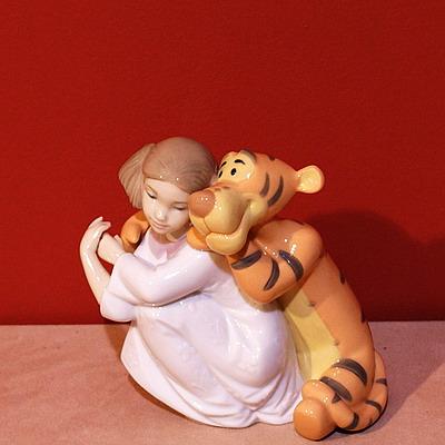 фарфоровая статуэтка, Девочка с тигрой, NAO