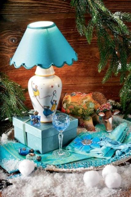 лампа из лиможского фарфора Лор Селиньяк