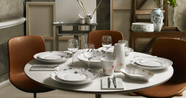 элегантная столовая посуда Royal Copenhagen, фарфоровые кувшины