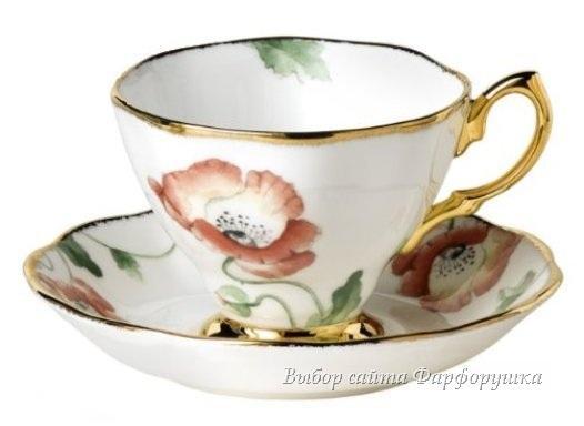 фарфоровые чайные чашки, цветочная роспись, белый твердый фарфор, английский фарфор, фарфор Royal Albert