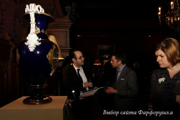 антикварный фарфор, антикварная вааза, ваза Meissen