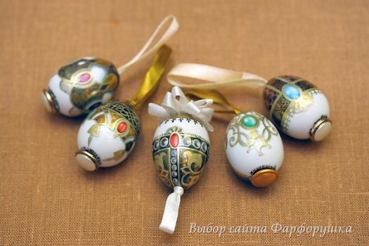 пасхальные фарфоровые яйца, декоративные подвески, ИФЗ