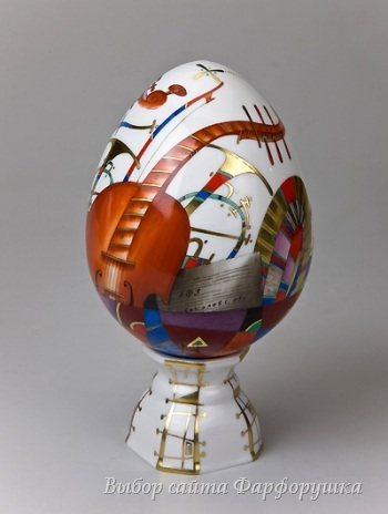 фарфоровое пасхальное яйцо, пасхальная роспись, ИФЗ