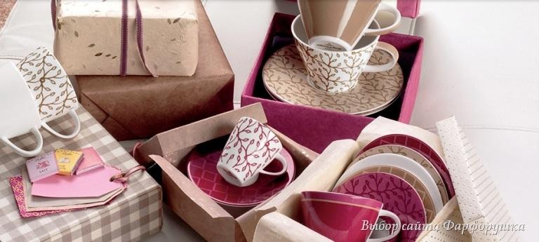 Villeroy & Вoch, фарфоровые кофейные чашки, коллекция «Caffe Club»