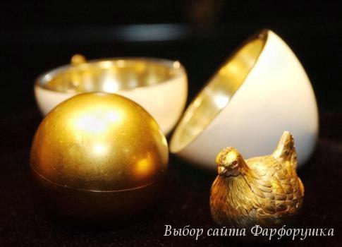"""Яйца Фаберже, яйцо """"Курочка"""",  золотая курочка в яйце"""