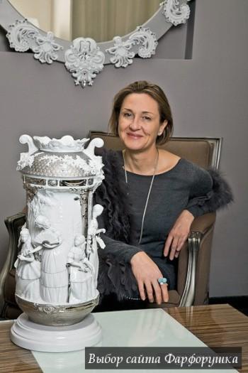 "фарфоровая ваза Lladro? коллекция ""Re-Deco"""