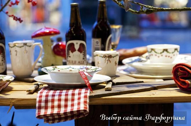 Идеи сервировки новогоднего стола. Фото, детали, декор
